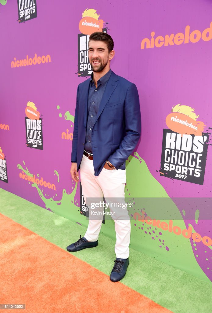 Honoree Michael Phelps attends Nickelodeon Kids' Choice Sports Awards 2017 at Pauley Pavilion on July 13, 2017 in Los Angeles, California.