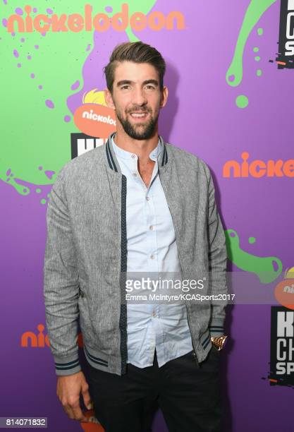 Honoree Michael Phelps attends Nickelodeon Kids' Choice Sports Awards 2017 at Pauley Pavilion on July 13 2017 in Los Angeles California