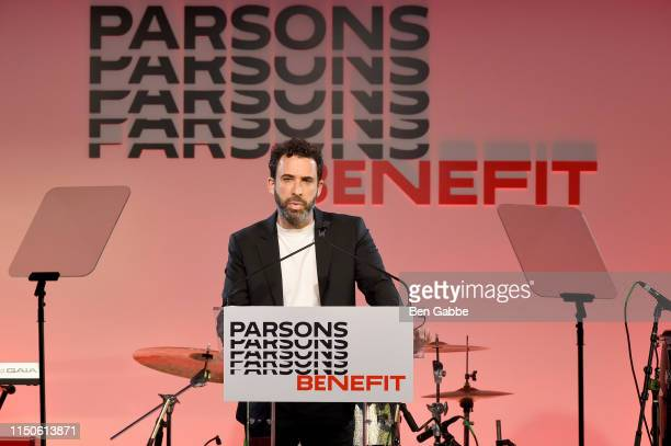 Honoree Michael Preysman speaks onstage during the 71st Annual Parsons Benefit honoring Pharrell, Everlane, StitchFix & The RealReal on May 20, 2019...