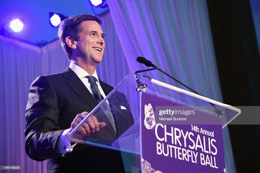 Honoree Michael Wright speaks onstage during the 14th annual Chrysalis Butterfly Ball sponsored by Audi, Kayne Anderson, Lauren B. Beauty and Z Gallerie on June 6, 2015 in Los Angeles, California.