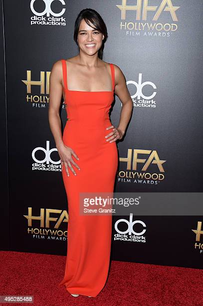 Honoree Michelle Rodriguez attends the 19th Annual Hollywood Film Awards at The Beverly Hilton Hotel on November 1 2015 in Beverly Hills California