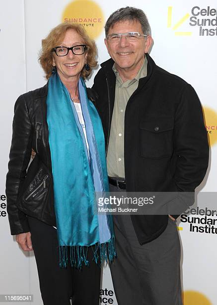 Honoree Michelle Satter and David Latt arrive at the 2011 Celebrate Sundance Institute Los Angeles Benefit at Franklin Canyon Ranch on June 8 2011 in...