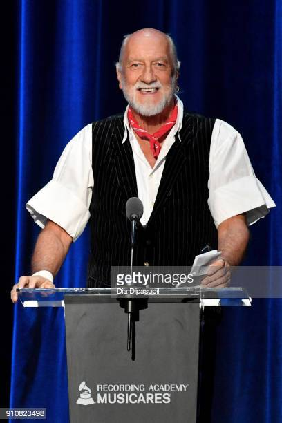 Honoree Mick Fleetwood of Fleetwood Mac accepts the MusiCares Person of the Year award onstage during MusiCares Person of the Year honoring Fleetwood...
