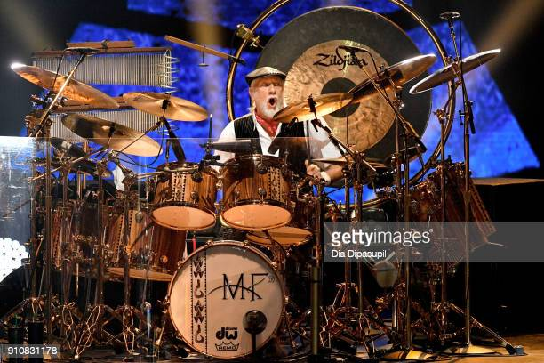 Honoree Mick Fleetwood of music group Fleetwood Mac performs onstage during MusiCares Person of the Year honoring Fleetwood Mac at Radio City Music...