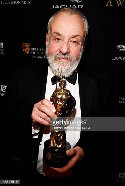 Honoree Mike Leigh OBE attends the BAFTA Los Angeles Jaguar Britannia Awards presented by BBC America and United Airlines at The Beverly Hilton Hotel...
