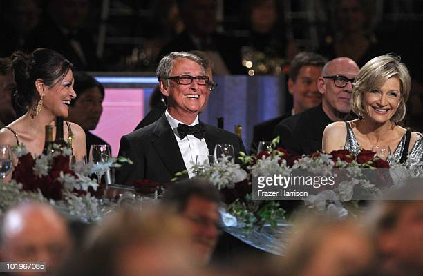 Honoree Mike Nichols and journalist Diane Sawyer in the audience during the 38th AFI Life Achievement Award honoring Mike Nichols held at Sony...