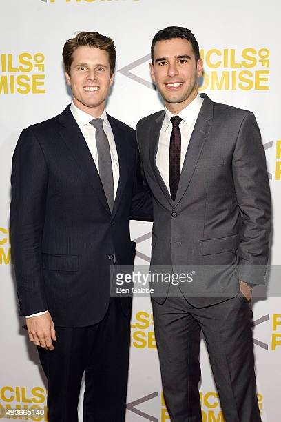 Honoree Mike Weiss and Pencils Of Promise founder Adam Braun attend the Pencils Of Promise Gala at Cipriani Wall Street on October 21 2015 in New...