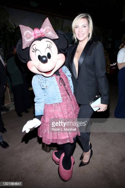 Honoree Minnie Mouse and June Diane Raphael attend Create Cultivate's 100 Launch Party at Valentine DTLA on January 23 2020 in Los Angeles California
