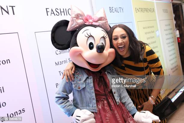 Honoree Minnie Mouse and Tia Mowry attend Create & Cultivate's 100 Launch Party at Valentine DTLA on January 23, 2020 in Los Angeles, California.