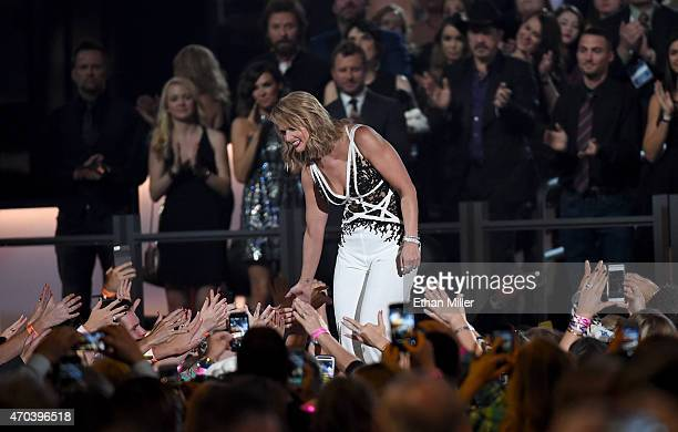 Honoree Miranda Lambert accepts the award for Album of the Year for Platinum onstage during the 50th Academy of Country Music Awards at ATT Stadium...