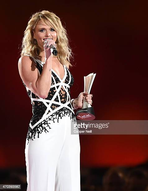 Honoree Miranda Lambert accepts the award for Song of the Year for 'Automatic' onstage during the 50th Academy Of Country Music Awards at ATT Stadium...