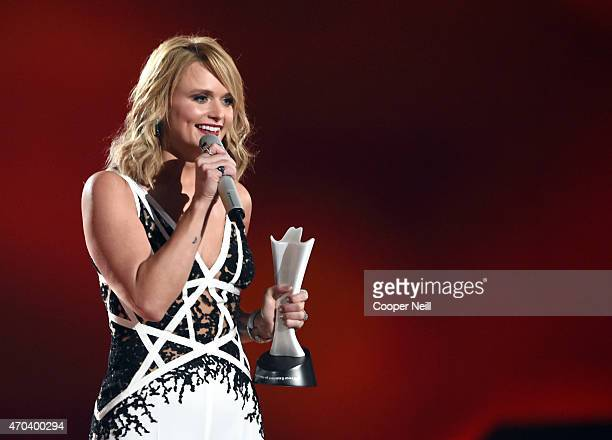Honoree Miranda Lambert accepts the Female Vocalist of the Year Award onstage during the 50th Academy Of Country Music Awards at ATT Stadium on April...