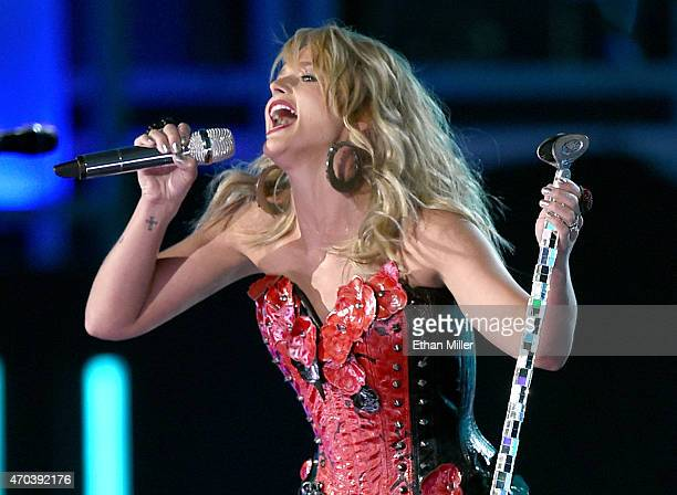 Honoree Miranda Lambert performs onstage during the 50th Academy of Country Music Awards at ATT Stadium on April 19 2015 in Arlington Texas