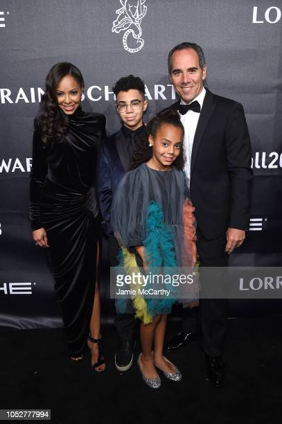 Honoree Monte Lipman Angelina Lipman and children attend the 2018 Angel Ball hosted by Gabrielle's Angel Foundation at Cipriani Wall Street on...