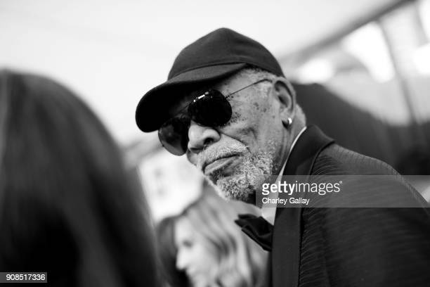 Honoree Morgan Freeman attends the 24th Annual Screen Actors Guild Awards at The Shrine Auditorium on January 21 2018 in Los Angeles California...