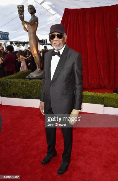 Honoree Morgan Freeman attends the 24th Annual Screen Actors Guild Awards at The Shrine Auditorium on January 21 2018 in Los Angeles California