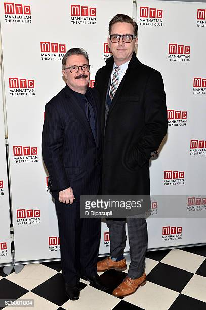 Honoree Nathan Lane and Devlin Elliott attend the 2016 Manhattan Theatre Club's Fall Benefit at 583 Park Avenue on November 21 2016 in New York City