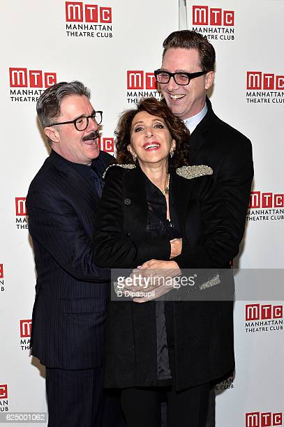 Honoree Nathan Lane Andrea Martin and Devlin Elliott attend the 2016 Manhattan Theatre Club's Fall Benefit at 583 Park Avenue on November 21 2016 in...