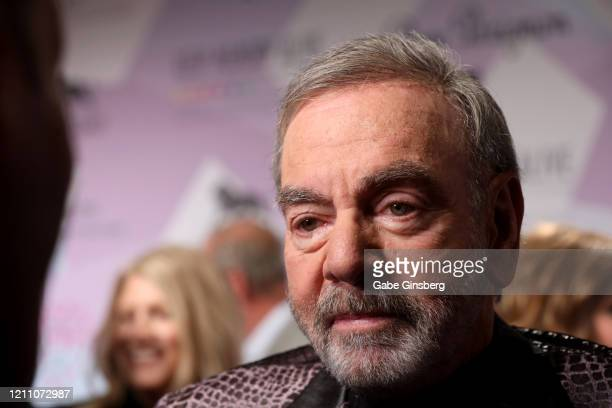 Honoree Neil Diamond is interviewed during the 24th annual Keep Memory Alive Power of Love Gala benefit for the Cleveland Clinic Lou Ruvo Center for...