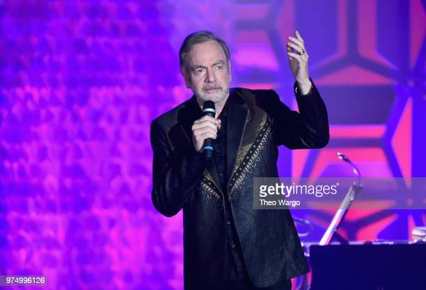 Honoree Neil Diamond performs onstage during the Songwriters Hall of Fame 49th Annual Induction and Awards Dinner at New York Marriott Marquis Hotel...