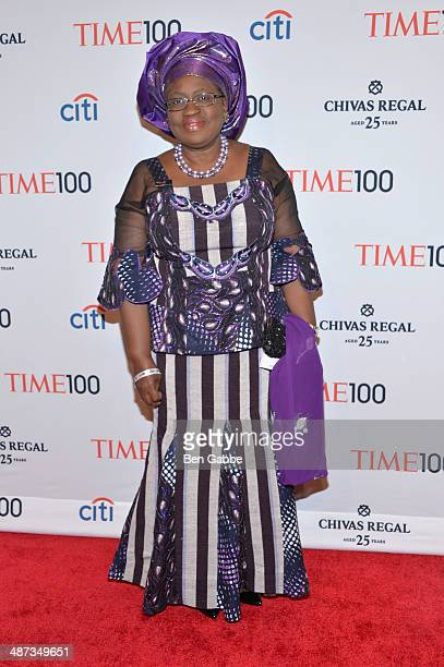 Honoree Ngozi OkonjoIweala attends the TIME 100 Gala TIME's 100 most influential people in the world at Jazz at Lincoln Center on April 29 2014 in...