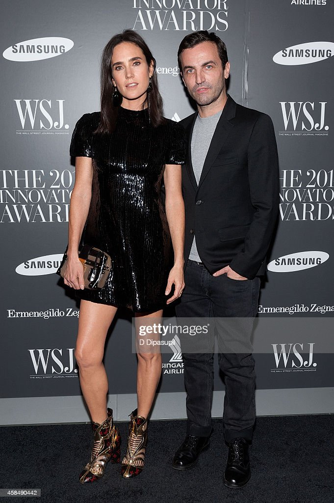 Honoree Nicolas Ghesquiere (R) and Jennifer Connelly attend WSJ. Magazine's 'Innovator Of The Year' Awards at the Museum of Modern Art on November 5, 2014 in New York City.