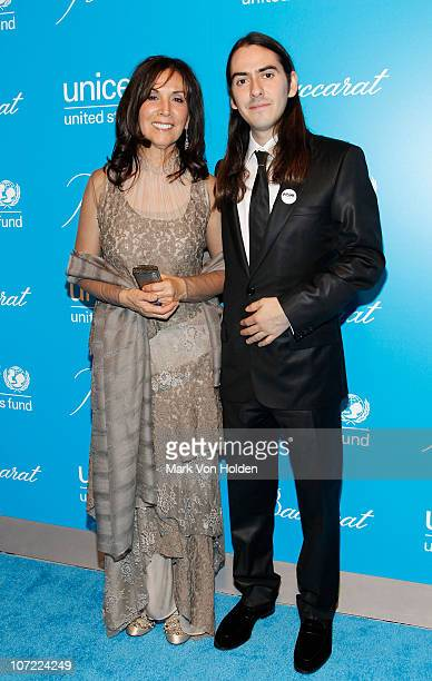 Honoree Olivia Harrison and musical artist Dhani Harrison attend the 7th Annual UNICEF Snowflake Ball at Cipriani 42nd Street on November 30, 2010 in...