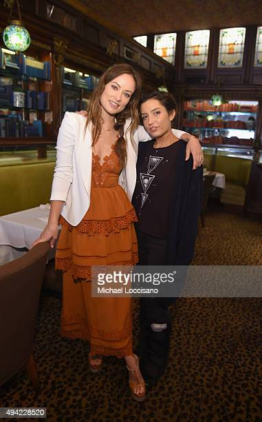 """Honoree Olivia Wilde and """"Meadowland"""" director Reed Morano attend a Brunch at Gryphon Tea Room during Day Two of 18th Annual Savannah Film Festival..."""