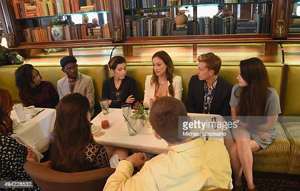 """Honoree Olivia Wilde and """"Meadowland"""" director Reed Morano converse with SCAD students during a Brunch at Gryphon Tea Room during Day Two of 18th..."""