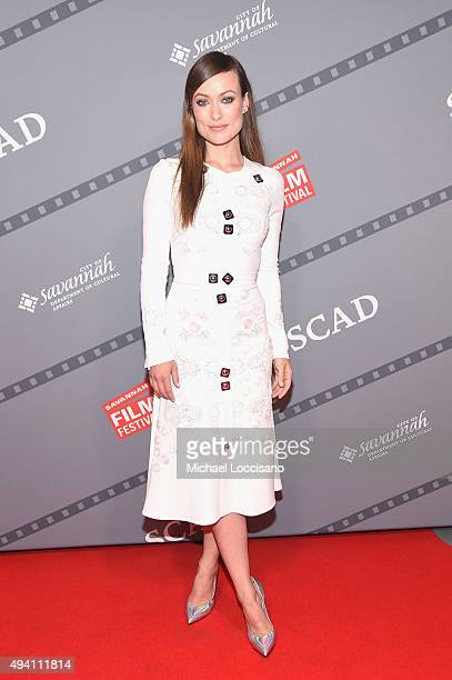"""Honoree Olivia Wilde attends the opening night screening of """"Suffragette"""" during 18th Annual Savannah Film Festival Presented by SCAD at Trustees..."""