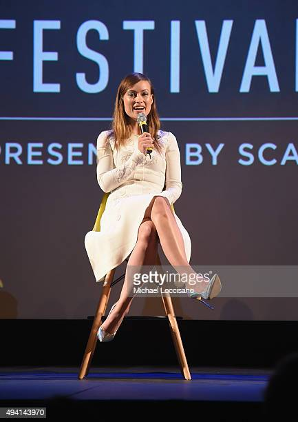 """Honoree Olivia Wilde speaks on stage during Q&A for """"Meadowland"""" at Lucas Theatre during Day One of the 18th Annual Savannah Film Festival Presented..."""