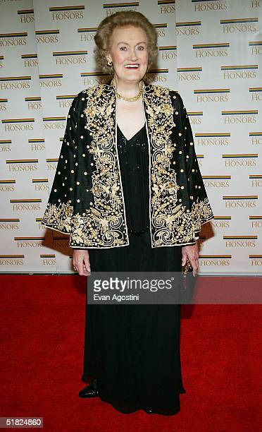 Honoree opera singer Joan Sutherland arrives at the 27th Annual Kennedy Center Honors at US Department of State December 4 2004 in Washington DC