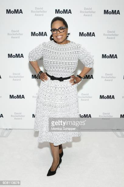 Honoree Oprah Winfrey attends The Museum of Modern ArtÕs 2018 David Rockefeller Award Luncheon at The Ziegfeld Ballroom on March 6 2018 in New York...