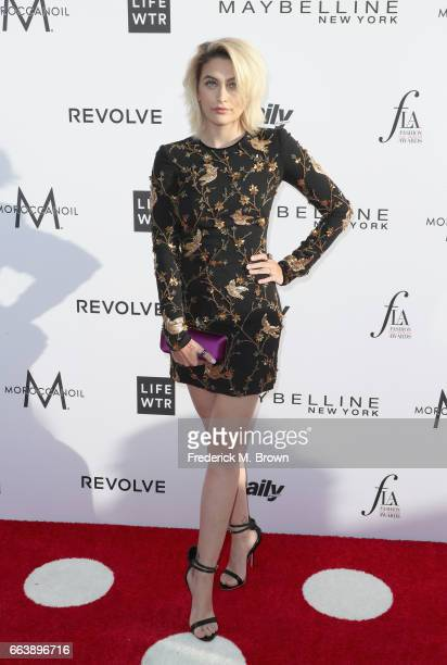 Honoree Paris Jackson attends the Daily Front Row's 3rd Annual Fashion Los Angeles Awards at Sunset Tower Hotel on April 2 2017 in West Hollywood...