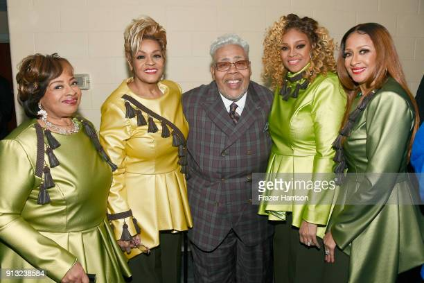 Honoree Pastor Rance Allen with Elbernita ClarkTerrell Jacky ClarkChisholm Dorinda ClarkCole and Karen Clark Sheard of The Clark Sisters at BET...