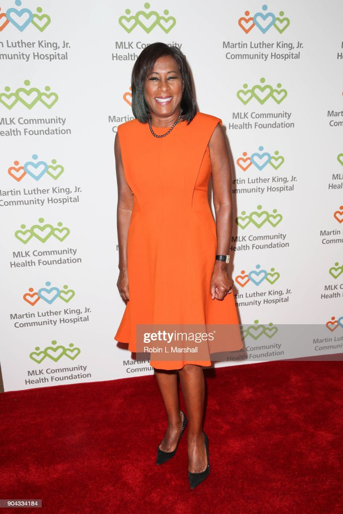 Honoree Pat Harvey attends the MLK Community Health Foundation's 'Sharing The Dream' Luncheon at Dorothy Chandler Pavilion on January 12, 2018 in Los Angeles, California.