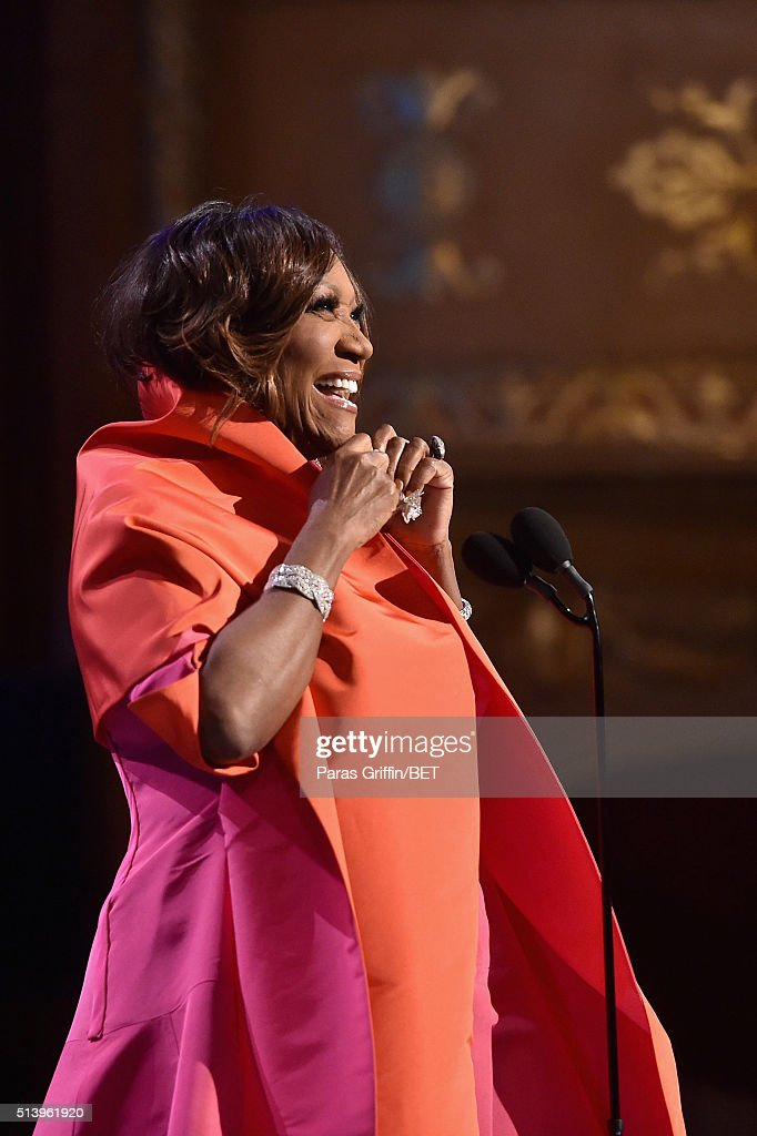 Honoree Patti LaBelle accepts an award on stage during the BET Honors 2016 Show at Warner Theatre on March 5, 2016 in Washington, DC.