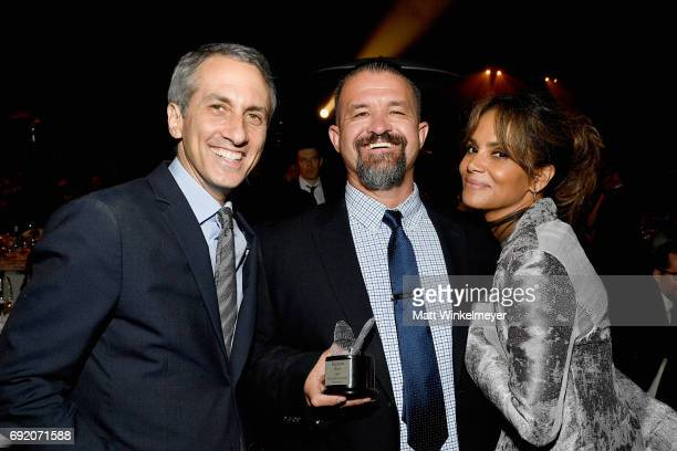 Honoree Peter Cramer Honoree Raymond Davis and Actor Halle Berry at the 16th Annual Chrysalis Butterfly Ball on June 3 2017 in Los Angeles California
