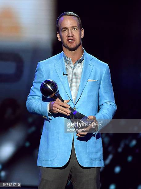 Honoree Peyton Manning accepts the Icon Award onstage during the 2016 ESPYS at Microsoft Theater on July 13 2016 in Los Angeles California