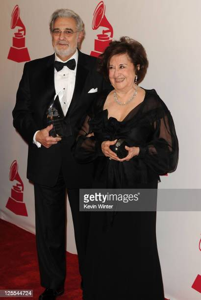 Honoree Placido Domingo and his wife Marta Domingo arrive at the 2010 Person of the Year honoring Placido Domingo at the Mandalay Bay Events Center...