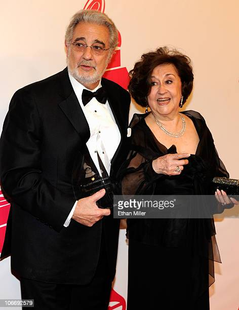 Honoree Placido Domingo and wife Marta Ornelas arrive at the 2010 Person of the Year honoring Placido Domingo at the Mandalay Bay Events Center...
