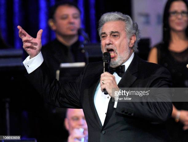 Honoree Placido Domingo performs onstage during the 2010 Person of the Year honoring Placido Domingo at the Mandalay Bay Events Center inside the...