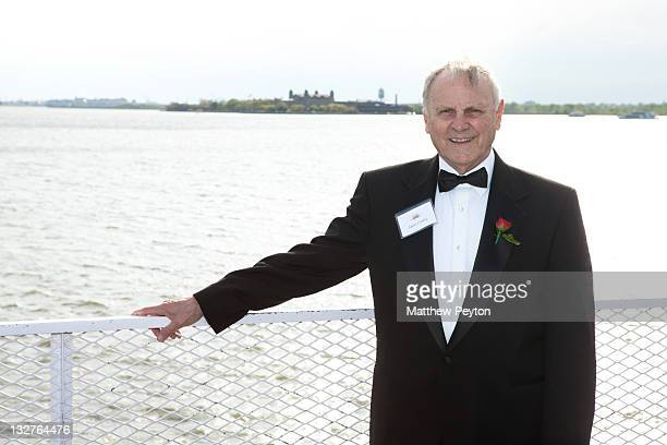 Honoree President Embree Elevators and elevator industry safety consultant James F Comley attends the Ellis Island Medals of Honor sponsored by NECO...