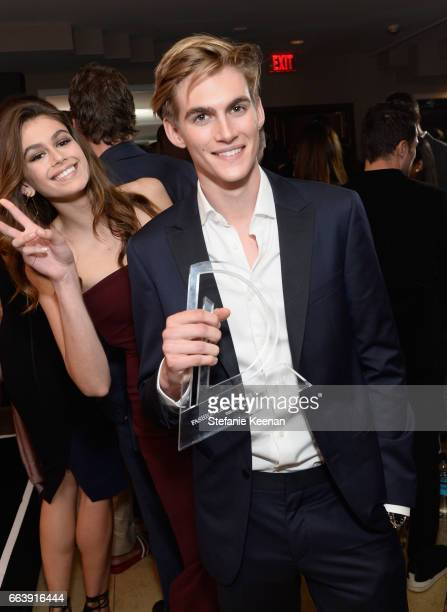 Honoree Presley Gerber poses with the award for Emerging Model at the Daily Front Row's 3rd Annual Fashion Los Angeles Awards at Sunset Tower Hotel...