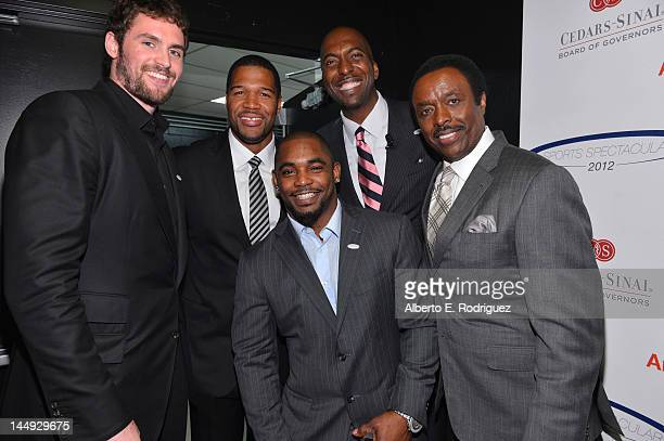 Honoree professional basketball player Kevin Love former professional football player Michael Strahan honoree NFL player Ahmand Bradshaw host John...