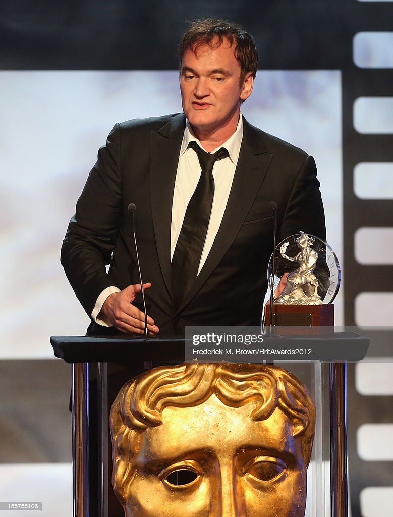 Honoree Quentin Tarantino accepts the John Schlesinger Britannia Award for Excellence in Directing onstage at the 2012 BAFTA Los Angeles Britannia Awards Presented By BBC AMERICA at The Beverly Hilton Hotel on November 7, 2012 in Beverly Hills, California.