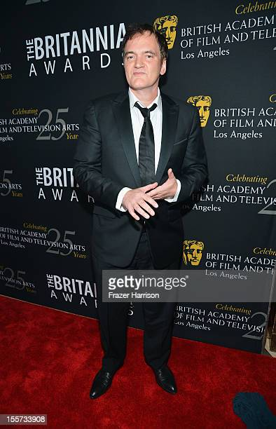 Honoree Quentin Tarantino arrives at the 2012 BAFTA Los Angeles Britannia Awards Presented By BBC AMERICA at The Beverly Hilton Hotel on November 7...