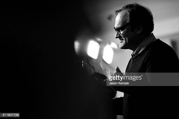 Honoree Quentin Tarantino attends the 18th Costume Designers Guild Awards at The Beverly Hilton Hotel on February 23 2016 in Beverly Hills California