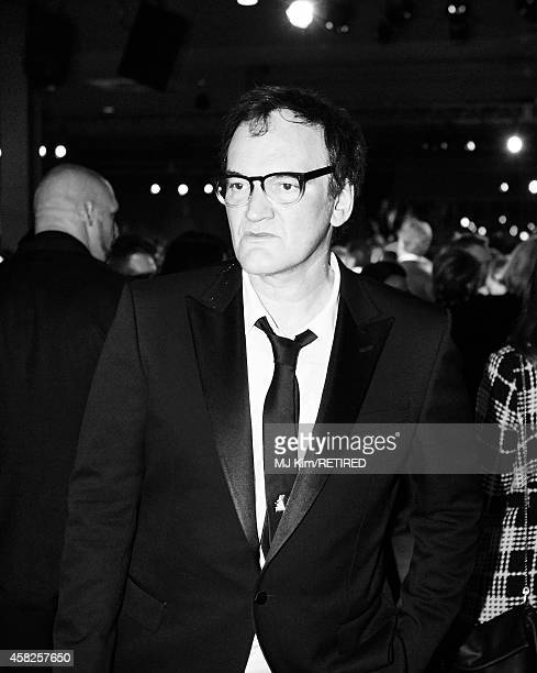 Honoree Quentin Tarantino is photographed at the 2014 LACMA Art Film Gala Honoring Barbara Kruger And Quentin Tarantino Presented By Gucci on...