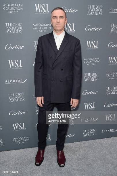 Honoree Raf Simons attends the WSJ Magazine 2017 Innovator Awards at MOMA on November 1 2017 in New York City